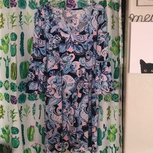XL Lilly Pulitzer Dress with Belle Sleeves